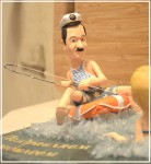 шаржевая статуэтка рыбака