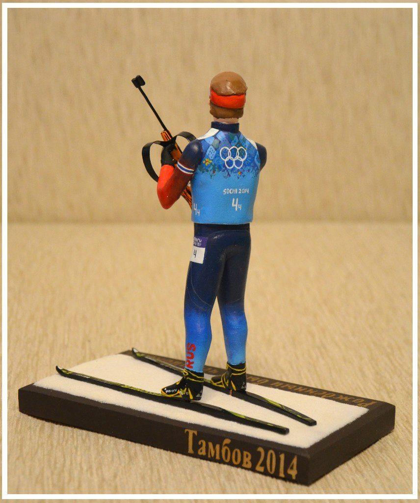 статуэтка лыжника на заказ