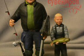 Фигурка рыбаков в подарок для самых близких мужчин…