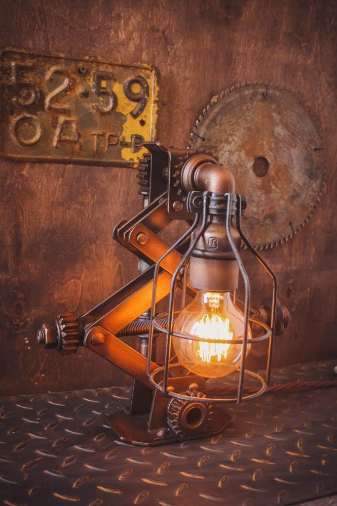 ретро лампа для интерьера