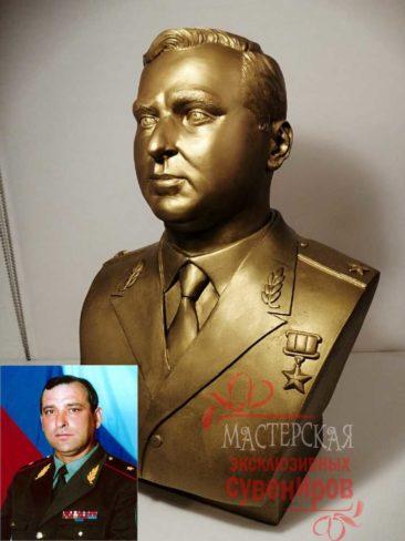 Портретный бюст, изготовление скульптуры на заказ по фотографии